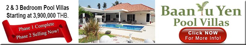 Hua Hin, Pranburi, pool, villas, for, sale. 3.9